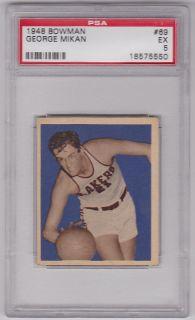 1948 Bowman George Mikan RC 69 PSA 5 Minneapolis Lakers