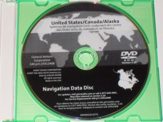 CADILLAC CHEVROLET GMC GM NAVIGATION DISC CD DVD 25912408 GPS MAP DISK