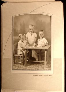 Photo Folder 3 Small Children 2 Boys Girl Ringsven Granite Falls MN