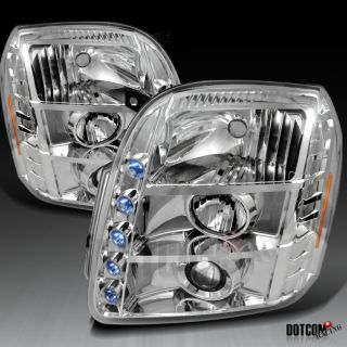 07 12 GMC Yukon XL Denali Chrome Projector Headlights