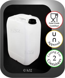 25L 25 Litre Plastic Water Containers Food Grade Drum Gerry Jerrican