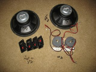 Altec Lansing 8 Speakers 4 Ohm A 0929 W103828 Pair w Crossover