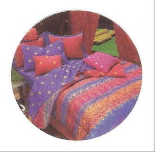 NEW TWIN COMFORTER & SHEET SET PURPLE PINK BLUE RED GOLD BEDDING SET