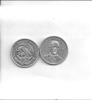 1964 Mexico 25 Centavos Uncirculated Mexican Silver Coin