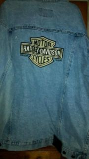 Mens Harley Davidson Denim Jean Jacket Size XL