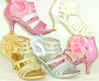 Fabulous Unique Glitter Sandals Pageant Wedding Flower Girls Party