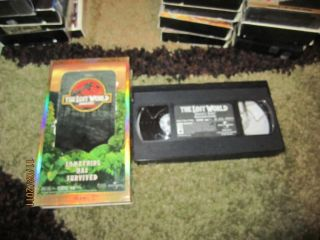 Jurassic Park 1997 VHS Jeff Goldblum Widescreen Video Spielberg