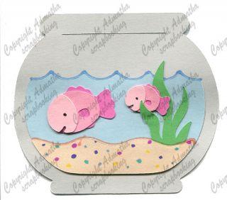 Fish Bowl Goldfish Cricut Die Cut