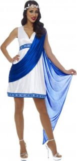 G63 Ladies Roman Empress Toga Robe Greek Goddess Fancy Dress Halloween