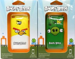 Gear 4 Angry Birds Yellow Bird King Pig iPod Touch Cases