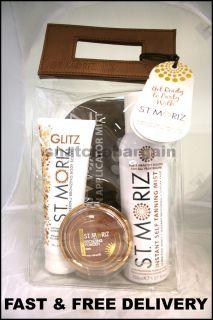 St Moriz Get Ready to Party Gift Bag Taning Mist Souffle Powder Mitt