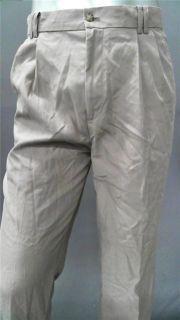 Greg Norman Golf Mens 32 Comfort Pleated Front Casual Pants Khaki