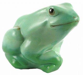 Fenton Art Glass Chameleon Green Frog Pond Buddies