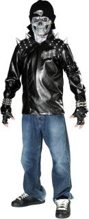 Heavy Metal Skull Biker Ghost Rider Halloween Costume