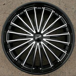 Gianelle Trentino L3 22 Black Rims Wheels Lincoln LS 00 07 22 x 9 0