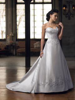 Bridesmaid Bridal Wedding Evening Dress Custom Sweet Heart Neck