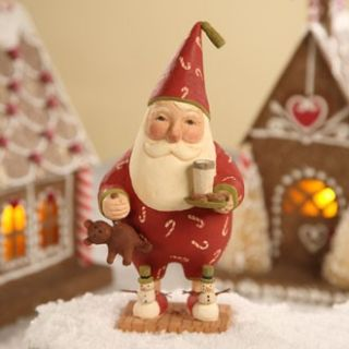 with Santa Christmas folk art Greg Guedel for Bethany Lowe gg0953 NEW