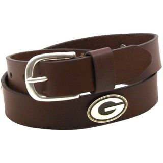 Green Bay Packers Youth Emblem Leather Belt Brown