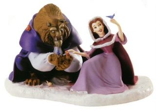 WDCC Beauty and The Beast She Didnt Shudder at My Paw Winter Scene