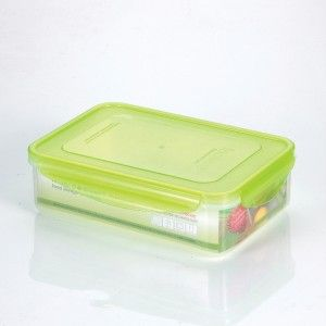 Kinetic Go Green 1 1 2 Quart Premium Rectangular Plastic Food Storage