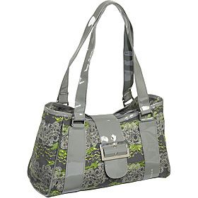 Koko Patty Insulated Green Eco Friendly Lunch Tote Bag with Patent