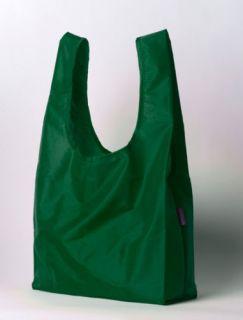 NWT  BAGGU REUSABLE BAG EMERALD GREEN ECO SHOPPING BAG RIPSTON NYLON
