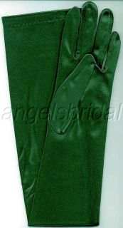23 Forest Hunter Green Stretch Satin Bridal Halloween Party Costume