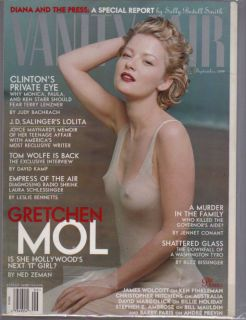 1998 Vanity Fair Magazine September Gretchen Mol