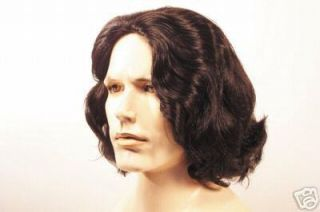 Deluxe Mens Morrison Rockstar Wig Costume Brown Grey