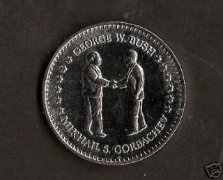 Double Eagle Coin George w Bush and Mikhail Gorbachev