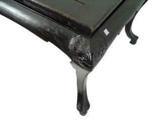 Chinese Antique Black Lacquer Library Dining Table 4M25