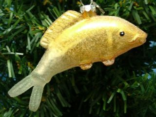 New Midwest Glass Golden Koi Fish Pond Decoration Christmas Tree