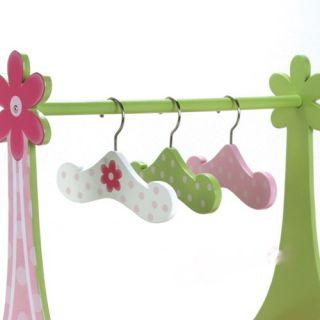 Handpainted Wooden 18inch Doll Hanger Set 3pc