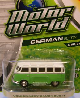 GREENLIGHT COLLECTIBLES 1 64 SCALE MOTOR WORLD SERIES 7 GREEN VW SAMBA