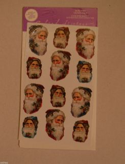 Gifted Line Grossman Victorian Santa Claus Faces Acid Lignin Free