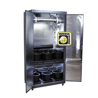 Grow Box HIGH QUALITY Turn Key Grow Cabinet System w Grow Light Grow