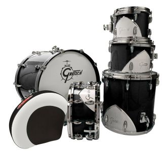 New Gretsch 57 Gretsch Renown Motor City Black 5 Piece Drum Set w
