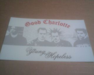Good Charlotte Young & Hopeless Vinyl Bumper Sticker Decal 5x3 laptop