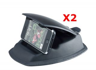 of 2 Universal Dashboard Friction Mount w Holder for GPS Phone