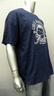 Hanes Girls Basketball Mens 3XL Navy Graphic T Shirt Tee Short Sleeve