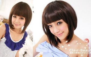 Japan Clair Beauty Girl Next Door Bang Short Bob Wig