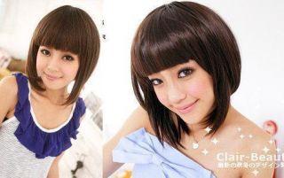 Japan Clair Beauty Girl Next Door Bang Short Bob Wig
