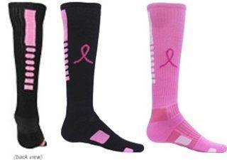 Girls Pink Ribbon All Sport Soccer Volleyball Softball Socks