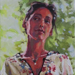 Silk Pajamas Melissa Grimes Original Art Oil Painting