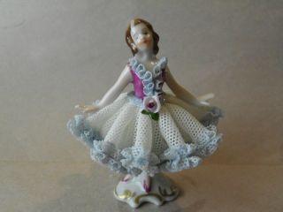 Mint Vintage Dresden Lady Porcelain Lady Figurine Germany
