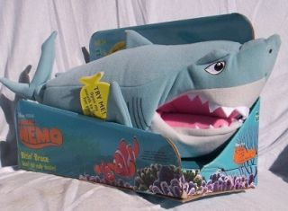 Finding NEMO Talking Bitin BRUCE Plush Stuffed SHARK NeW in BoX Disney