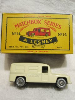 Lesney Matchbox Daimler Ambulance Box 14B Gottlieb Daimler Mercedes