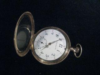 Vintage E H Gouldings Sons 14k Gold Pocket Watch 17 Jewels 68 7 Grams