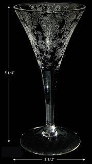 Cambridge Rose Point 7966 2 oz Sherry Goblet