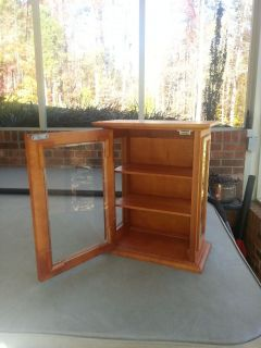 Display Case Wood Glass Wall Mount or Shelf